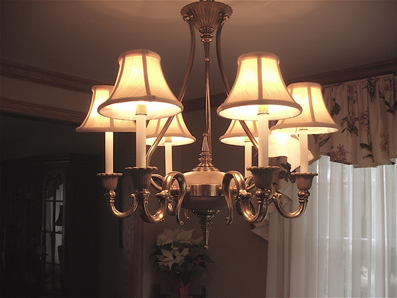 Well Known Linen Chandeliers Regarding Pb Basic Silk Chandelier Shade Set Of 3 Pottery Barn Within Shades (View 5 of 10)