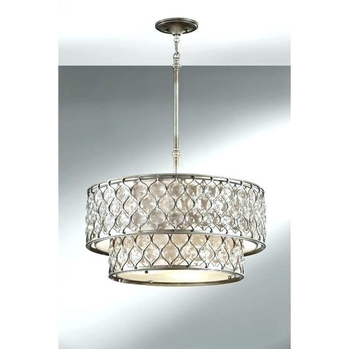 Well Known Linen Chandeliers Within Linen Shade Chandelier Linen Chandelier Shade Medium Size Of (View 7 of 10)