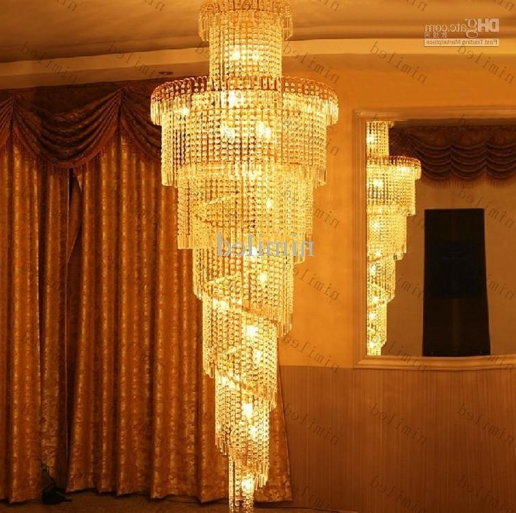 Well Known Long Chandelier Lights Regarding Nimi32 Modern Stair Lights K9 Crystal Ball Chandelier Light Long (View 10 of 10)