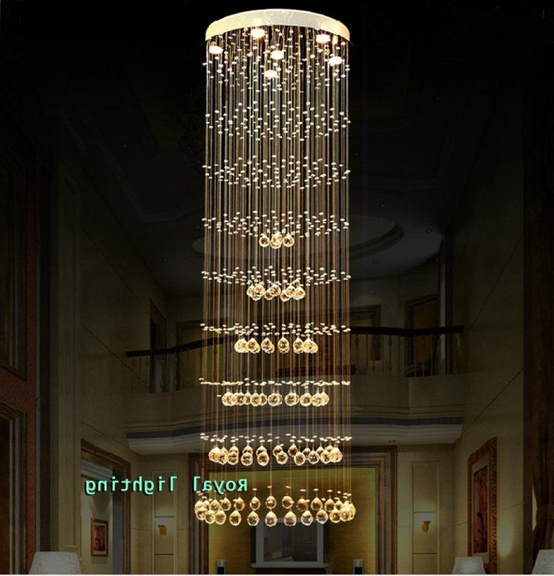 Well Known Long Hanging Chandeliers Intended For H (View 8 of 10)