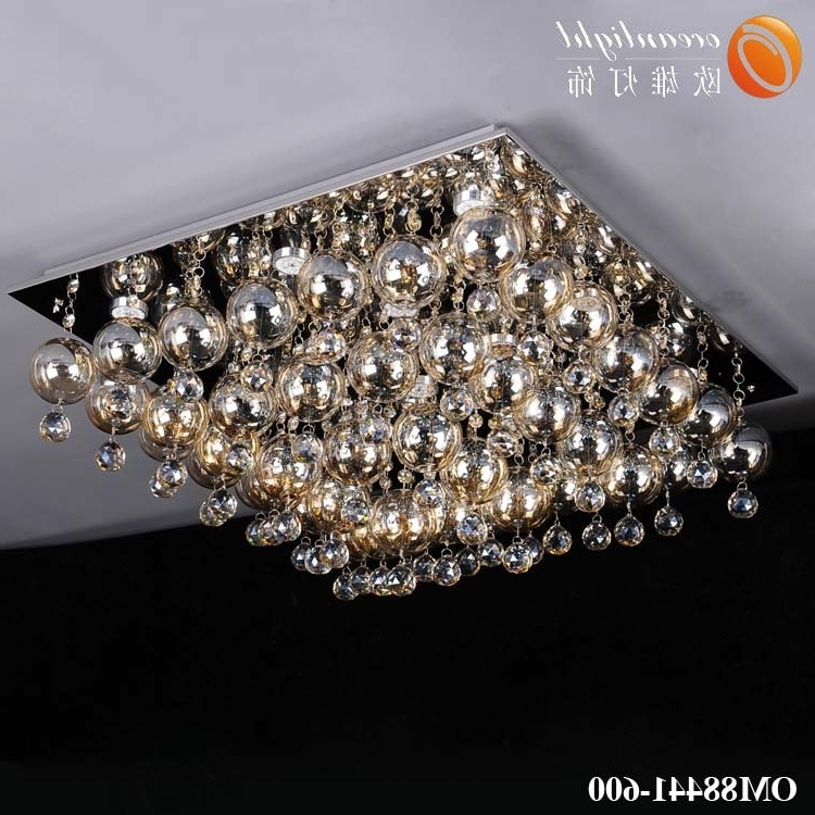 Well Known Low Ceiling Chandelier Throughout Glass Drop Chandelier Lighting,low Ceiling Chandelier Om88441  (View 10 of 10)