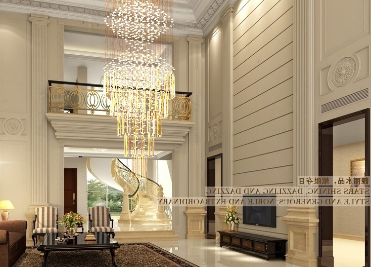 Well Known Modern Big Crystal Chandelier For Luxury Life Throughout Modern Large Chandelier (View 2 of 10)