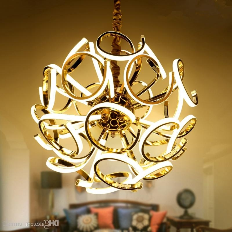 Well Known Modern Led Chandelier With Creative Spherical Chandelier New Design Modern Led Chandelier Lamp (View 8 of 10)