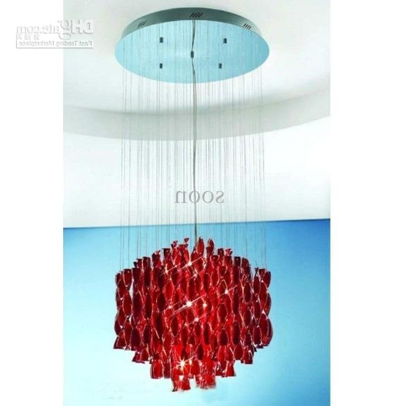 Well Known Modern Red Chandelier With Modern Stylish Minimalist Red Glass Chandelier Living Room Bedroom (View 9 of 10)