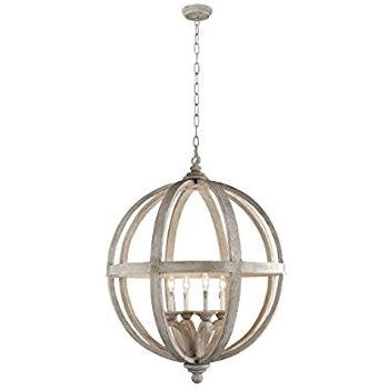 Well Known Orb Chandelier For Y Decor Lz3225 4 Modern, Transitional, Traditional 4 Light Wood Orb (View 6 of 10)