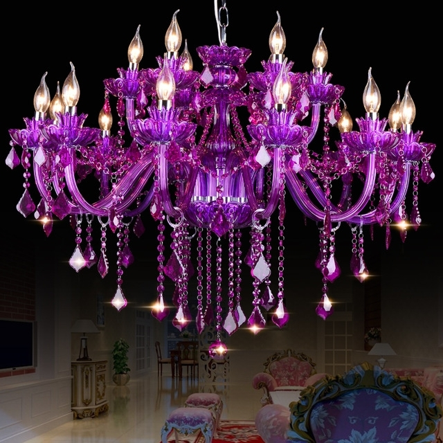 Featured Photo of Purple Crystal Chandelier Lights