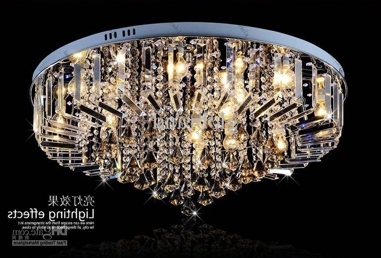Well Known Remote Controlled Chandelier Throughout Dia 60Cm/80Cm Led Rgb Chandelier Modern Crystal Chandeliers Lamp (View 9 of 10)