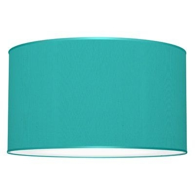 Well Known Seascape Lamps Tryptic 3 Light Drum Pendant Shade Color: Turquoise With Turquoise Drum Chandeliers (Gallery 5 of 10)