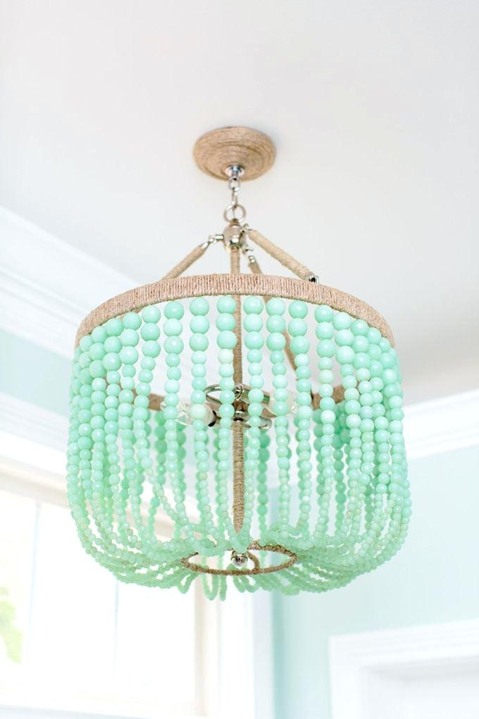 Well Known Small Turquoise Beaded Chandeliers With Beaded Chandelier Mint Zest Lighting Turquoise Beaded Chandelier (View 10 of 10)