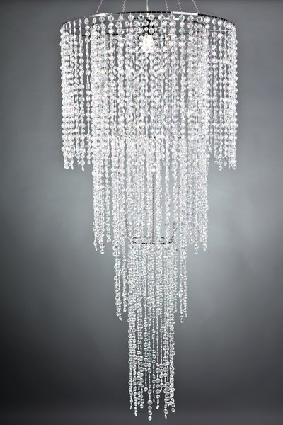 Well Known Sparkly Chandeliers In Large 4 Tier Crystal Acrylic Chandelier, Tent Lighting And (View 8 of 10)