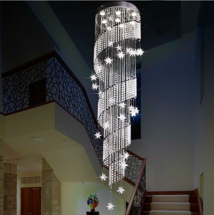 Well Known Stairwell Chandelier Within Crystal Stairs Chandelier – Buy Chandelier,crystal Stairs Chandelier (View 9 of 10)