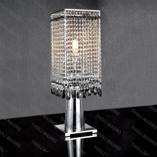 Well Known Stylish Faux Crystal Chandelier Table Lamp Table Lamp Mini Crystal For Faux Crystal Chandelier Table Lamps (View 10 of 10)