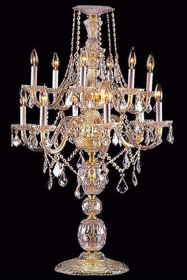 Well Known Table Chandeliers Throughout C181 2117 6+6/hand Polished Brass Gallery Table Lamp C181 2117 6+ (View 10 of 10)