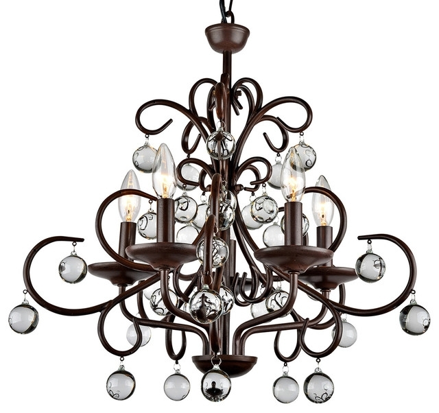 Well Known Traditional Chandeliers With Kelly Modern Stylish Crystal 5 Light Chandelier – Traditional (View 5 of 10)