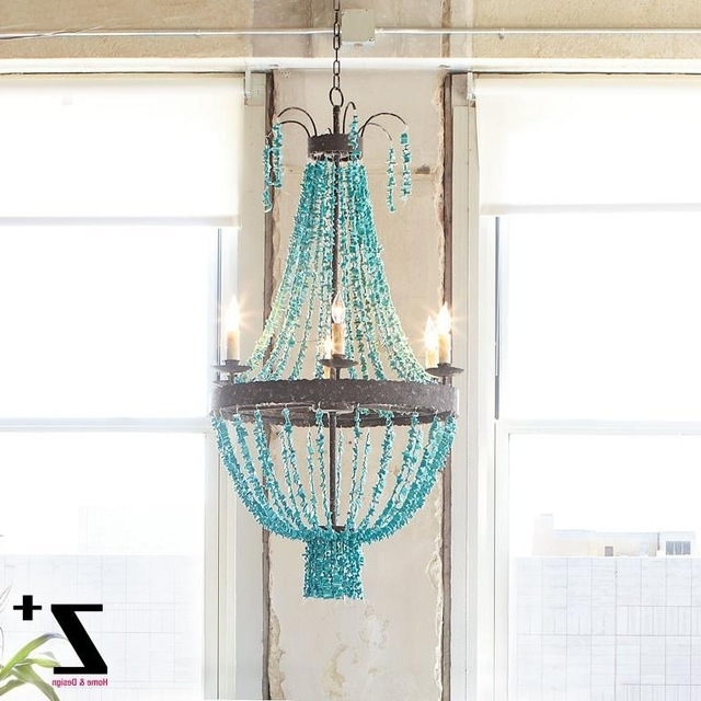 Well Known Turquoise Beads Six Light Chandeliers Pertaining To Replica Item Blue Stone Turquoise Beads Six Light Chandelier D70cm (View 2 of 10)