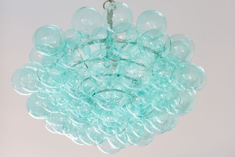 Well Known Turquoise Bubble Chandelier (View 2 of 10)