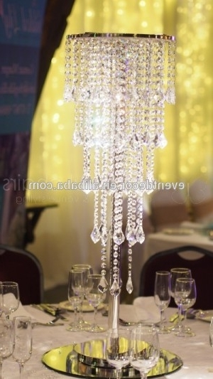 Well Known Wedding Crystal Chandelier Centerpieces , Table Chandeliers For In Crystal Table Chandeliers (View 4 of 10)