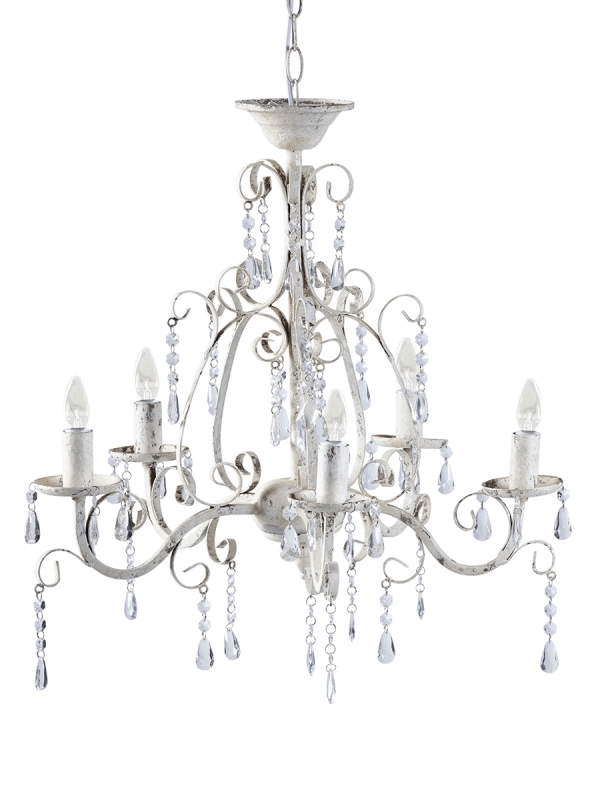 Well Known White Chandelier Regarding Florence Chandelier – Antique White (View 3 of 10)