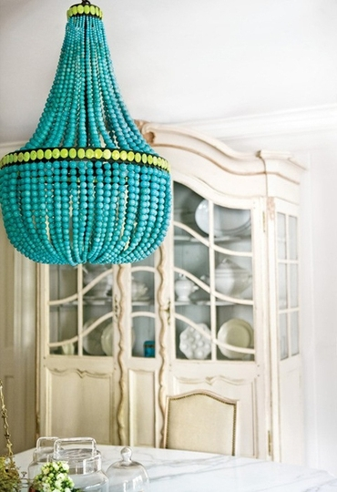 Well Known Wow Factor: Turquoise Chandeliers (View 10 of 10)