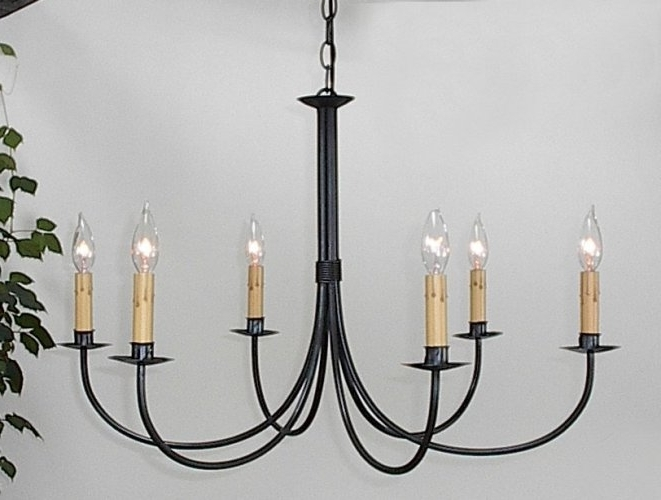 Well Liked Ace Wrought Iron Plain Six Arm Chandelier Clayton J Bryant Iron Throughout Wrought Iron Chandelier (View 6 of 10)