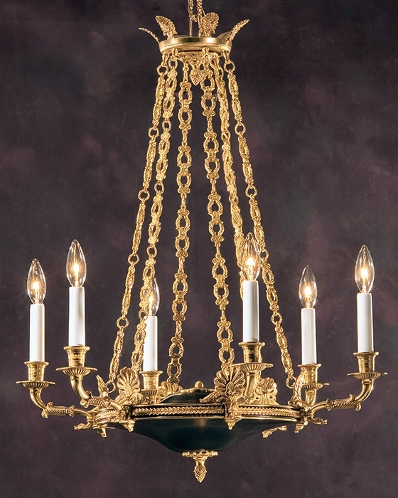 Well Liked Antique Chandelier And Empire Chandelier In French Gold For French Bronze Chandelier (View 9 of 10)
