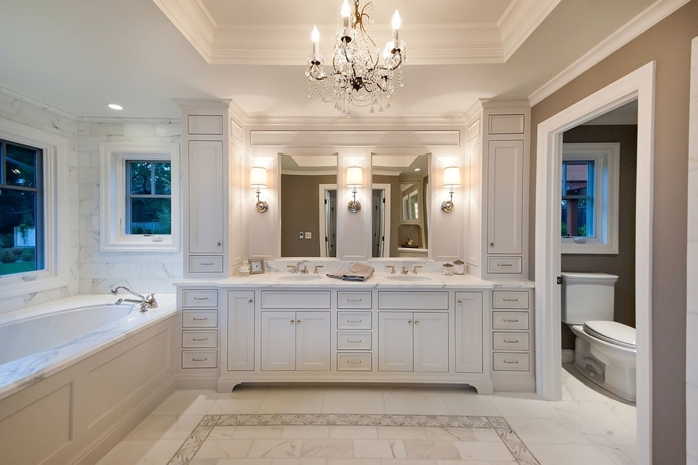 Well Liked Bathroom Vanity Lighting Ideas Bathroom Traditional With Bath Within Chandelier Bathroom Vanity Lighting (View 9 of 10)
