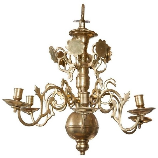 Well Liked Brass Chandeliers In Antique Brass Chandeliers – The Uk's Premier Antiques Portal (View 10 of 10)