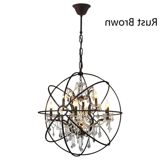 Well Liked D78Cm American Country Vintage Black Chandelier Bedroom K9 Crystal Throughout Vintage Black Chandelier (View 9 of 10)