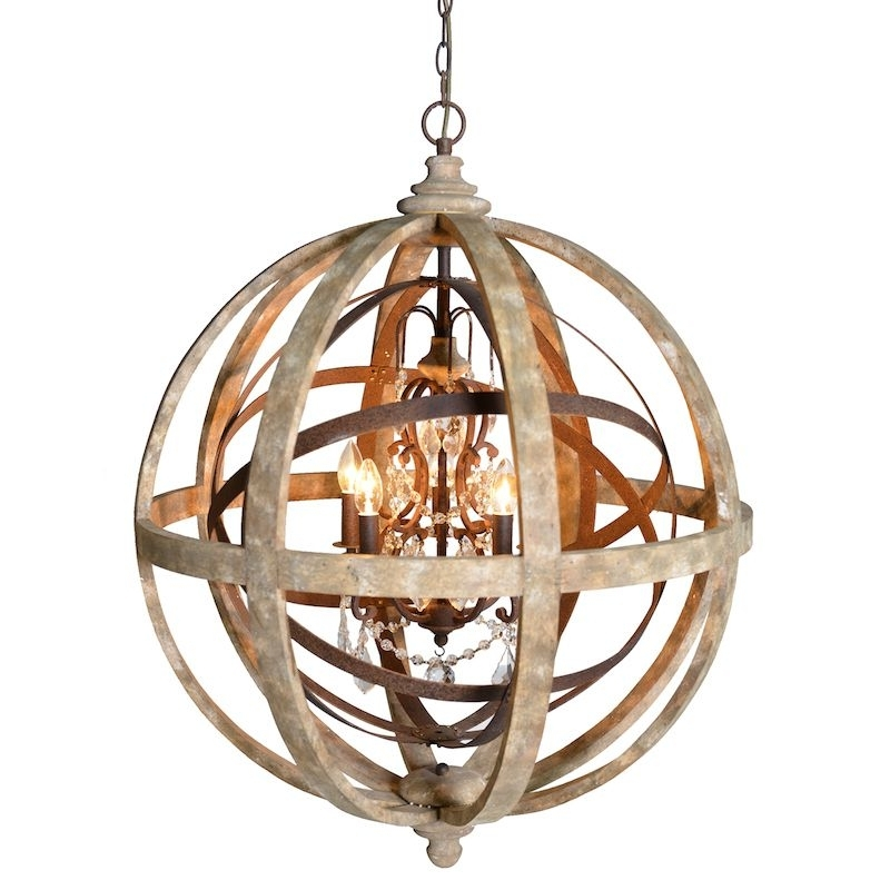 Well Liked Globe Chandeliers With Regard To Orlando Large Globe Chandelier (View 2 of 10)