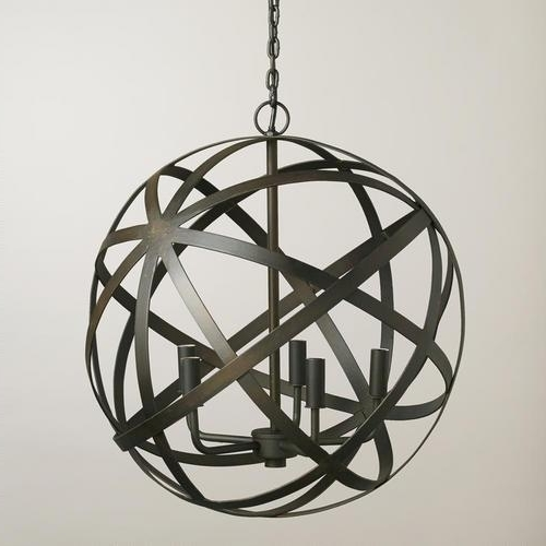 Well Liked Orb Black Chandelier For Metal Sphere Chandelier (View 5 of 10)
