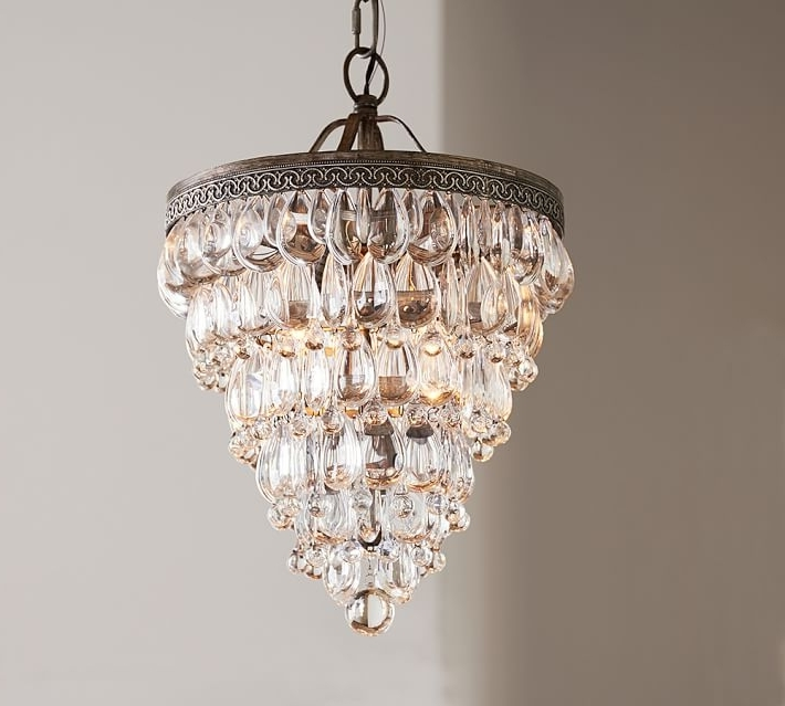 Well Liked Small Chandeliers With Regard To Small Chandeliers Clarissa Crystal Drop Small Round Chandelier (View 10 of 10)