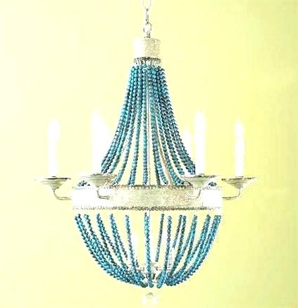 Well Liked Turquoise Beaded Chandelier Light Fixture Small Chandeliers For Pertaining To Turquoise Beaded Chandelier Light Fixtures (View 7 of 10)