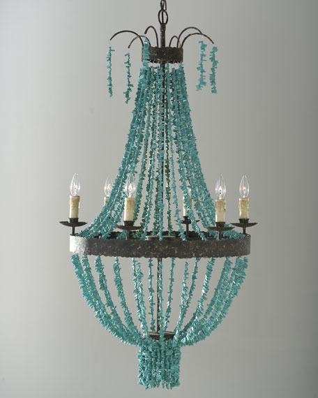 Well Liked Turquoise Beads Six Light Chandeliers Regarding Regina Andrew Design Turquoise Beads 6 Light Chandelier (Gallery 1 of 10)
