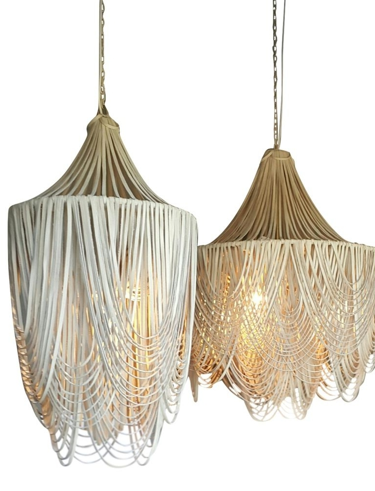 Whisper, Chandeliers And Organic With Leather Chandeliers (View 10 of 10)
