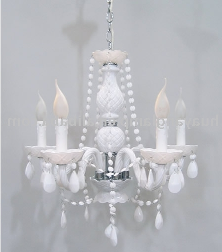 White Chandeliers – Thejots Intended For Newest Small White Chandeliers (View 8 of 10)
