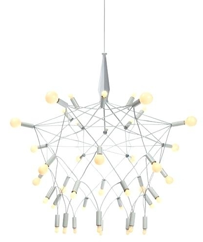 White Contemporary Chandelier Intended For Preferred White Contemporary Chandelier Amazing Of White Modern Chandelier (View 10 of 10)