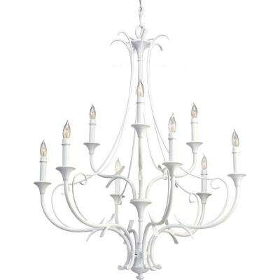 White – Feiss – Candle Style – Chandeliers – Lighting – The Home Depot Pertaining To Well Liked White Chandelier (View 8 of 10)