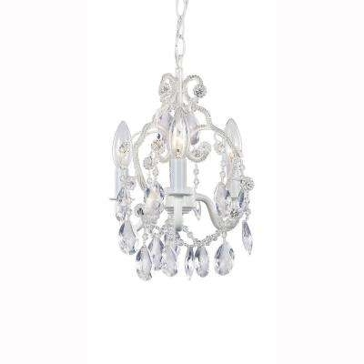 White – Hampton Bay – Pick Up Today – Chandeliers – Lighting – The Pertaining To Well Known Mini Crystal Chandeliers (View 10 of 10)