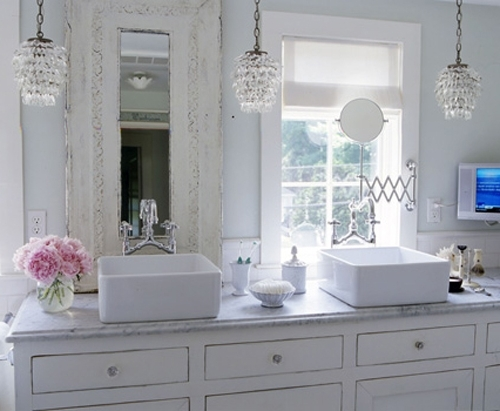 Widely Used Bathroom Chandeliers Crystal Jeffreypeak For Awesome House Light Intended For Bathroom Chandelier Lighting (View 8 of 10)
