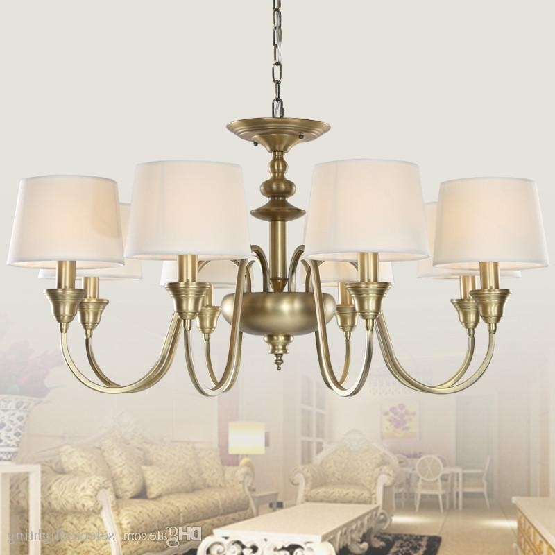 Widely Used Chandeliers With Lamp Shades Intended For European Vintage 3 Lights Single Tier Chandelier Ceiling Lights (View 5 of 10)