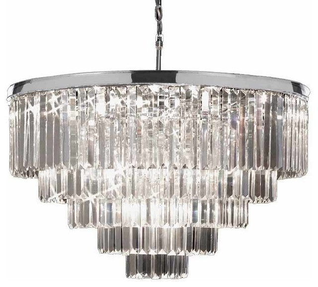 Widely Used Chrome And Glass Chandelier – Buzzmark In Chrome And Glass Chandelier (View 5 of 10)