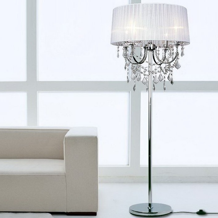 Widely Used Crystal Chandelier Floor Lamps For The House (View 3 of 10)