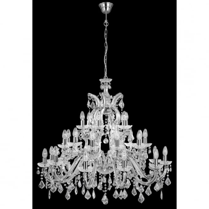 Widely Used Crystal Chrome Chandeliers Throughout Very Large Marie Therese Crystal Chandelier With 30 Lights On 3 Tiers (View 10 of 10)