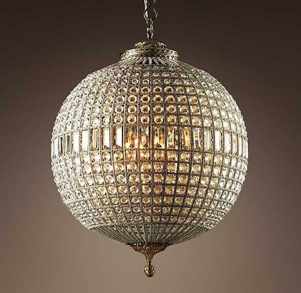 Widely Used Crystal Globe Chandelier With Regard To 19Th C. Casbah Crystal Chandelier (View 8 of 10)