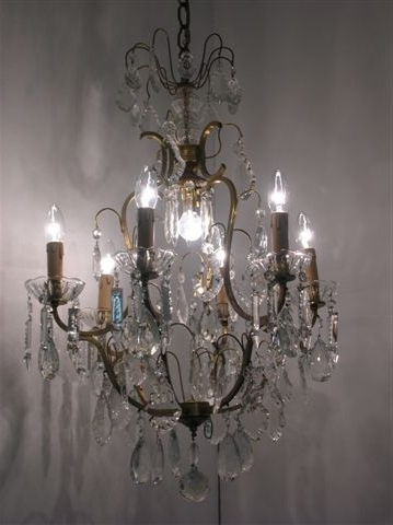 Widely Used French Crystal Chandelier – 8 Light Tiered French Crystal Chandelier Within French Crystal Chandeliers (View 9 of 10)