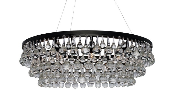 Widely Used Glass Droplet Chandelier Intended For Round Glass Droplet Chandelier – Look 4 Less And Steals And Deals (View 10 of 10)