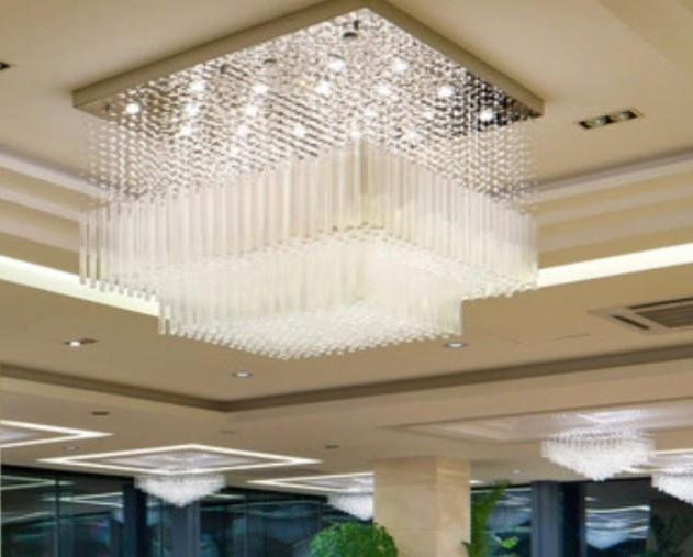 Widely Used Hotel Chandelier Pertaining To New Cascading Ceiling Chandelier Crystal Luxury Hotel Lobby (View 8 of 10)