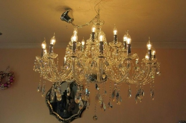 View photos of lead crystal chandeliers showing 8 of 10 photos widely used lead crystal chandeliers with regard to lead crystal chandeliers second hand lighting aloadofball Choice Image