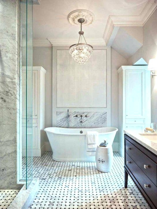 Widely Used Lovely Mini Crystal Chandeliers For Bathroom The Most Modern Mini Regarding Mini Bathroom Chandeliers (View 10 of 10)