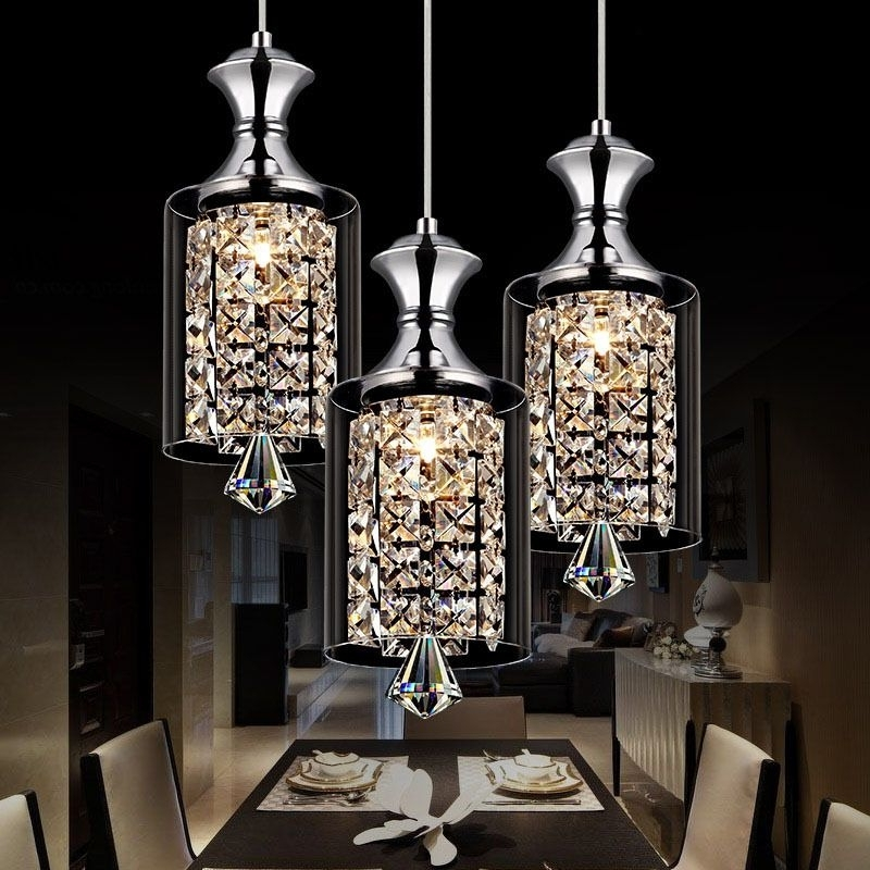 Widely Used Modern Pendant Chandelier Lighting Pertaining To Modern Pendant Chandelier 15w Led Crystal Pendant Lamp Three Head (View 8 of 10)